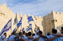 dag jerusalem Arkivfoton