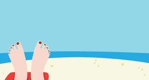 Dag op het strand Royalty-vrije Stock Afbeelding