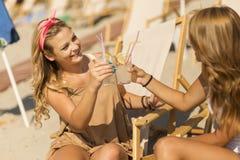 Dag op het strand Royalty-vrije Stock Foto's