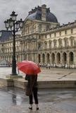 dag regniga paris Royaltyfri Fotografi