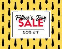 Dag Sale för fader` s Vektorrabattmall Arkivbild