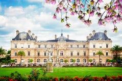 dag trädgårds- luxembourg paris september royaltyfri bild