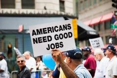 Dag van de Arbeidparade in de Stad van New York Royalty-vrije Stock Afbeelding