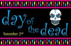 Dag van de dode banner stock illustratie