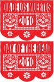 Dag van de Dode Banner van het Document Stock Afbeelding