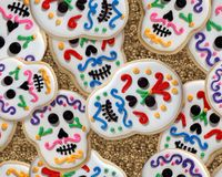 Dag van de Dode koekjes Stock Foto