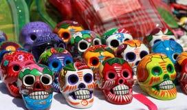 Dag van de dode skeletten stock foto
