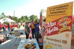Dag van de dode viering in Mexico Stock Foto