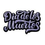 Dag van de Doden De hand schetste van letters voorziende Dia DE los Muertos, Dag van de Doden voor prentbriefkaar of vieringsontw vector illustratie