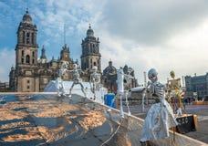 Dag van de doden in Mexico-City, Dia DE los muertos Royalty-vrije Stock Foto's