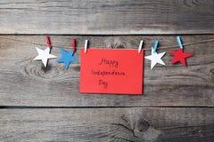 Dag van de inschrijvings de gelukkige onafhankelijkheid royalty-vrije stock fotografie