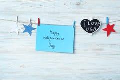 Dag van de inschrijvings de gelukkige onafhankelijkheid stock afbeelding