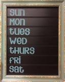 Dag van de kalender van de weekmuur Royalty-vrije Stock Foto's