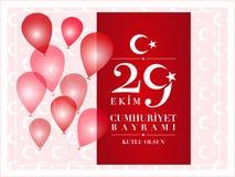 29 Dag van de Republiek van oktober de Nationale van Turkije Stock Afbeeldingen