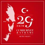 29 Dag van de Republiek van oktober de Nationale van Turkije Stock Fotografie