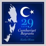 29 Dag van de Republiek van oktober de Nationale van Turkije Stock Foto