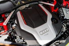 Dag van de de Testaandrijving van Audi S5 Sportback de Nagelnieuwe 2017 Stock Afbeelding