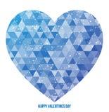 Dag van de Valentijnskaart van de Illustratie van het hart de Vector Royalty-vrije Stock Afbeeldingen