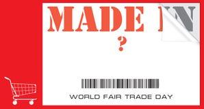 DAG van de wereld de Eerlijke Handel Royalty-vrije Stock Fotografie