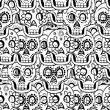 Dag van Dood Sugar Skull Seamless Vector Background Royalty-vrije Stock Foto's