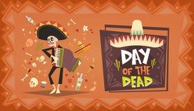 Dag van Dood Traditioneel Mexicaans Halloween Dia De Los Muertos Holiday Royalty-vrije Stock Foto's