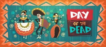 Dag van Dood Traditioneel Mexicaans Halloween Dia De Los Muertos Holiday Stock Fotografie