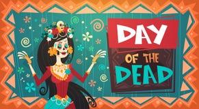 Dag van Dood Traditioneel Mexicaans Halloween Dia De Los Muertos Holiday Royalty-vrije Illustratie