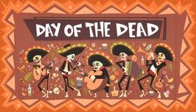 Dag van Dood Traditioneel Mexicaans Halloween Dia De Los Muertos Holiday Party Stock Fotografie