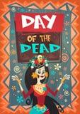 Dag van Dood Traditioneel Mexicaans Halloween Dia De Los Muertos Holiday Party Royalty-vrije Illustratie