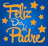 Dag van Felizdia DE padre-spanish-text de Gelukkige vaders vector illustratie