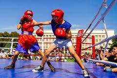 Dag van Fysieke Cultuur en Sporten in Uzhgorod Stock Foto's