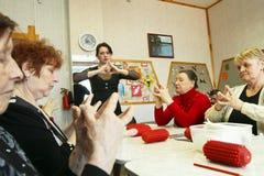 Dag van Gezondheid - Beroepstherapie voor eldery Stock Foto