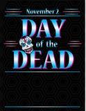 Dag van het Dode Affichemalplaatje stock illustratie