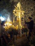Dag van het Dode Altaar in Mixquic, Mexico royalty-vrije stock afbeelding