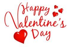 Dag van liefde de Gelukkige Valentijnskaarten Stock Fotografie