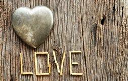 Dag van metaal de hart gestalte gegeven valentijnskaarten Royalty-vrije Stock Afbeelding