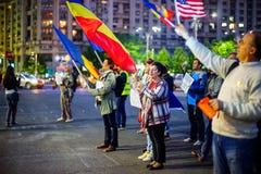 Dag 105 van protest, Boekarest, Roemenië Stock Foto