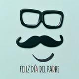 Dag van tekst de gelukkige vaders in het Spaans stock foto