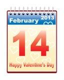 Dag van Valentijnskaart Stock Foto