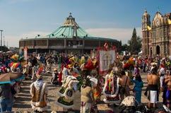 Dag van Virgin van Guadalupe in Mexico-City Royalty-vrije Stock Afbeelding
