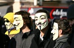 Dag van werelddemonstratie tegen handelingen Stock Foto's