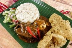 Dagang de Nasi, un repas malaisien populaire sur la Côte Est du Malaysian péninsulaire Image stock