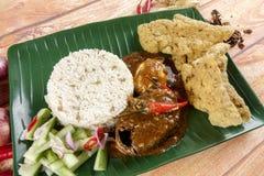 Dagang de Nasi, un repas malaisien populaire sur la Côte Est du Malaysian péninsulaire Images stock