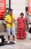 Dagar av beröm och partiet i Malaga Andalusia Spanien Arkivfoto