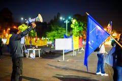 100 dagar av protesten, Bucharest, Rumänien Arkivbild