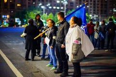 100 dagar av protesten, Bucharest, Rumänien Royaltyfri Fotografi