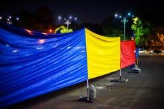 100 dagar av protesten, Bucharest, Rumänien Arkivfoton