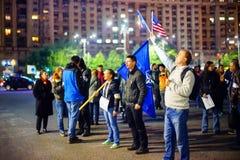 100 dagar av protesten, Bucharest, Rumänien Royaltyfria Bilder