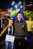 100 dagar av protesten, Bucharest, Rumänien Royaltyfri Foto