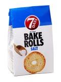 7 dagar bakar Rolls med salt Arkivfoton